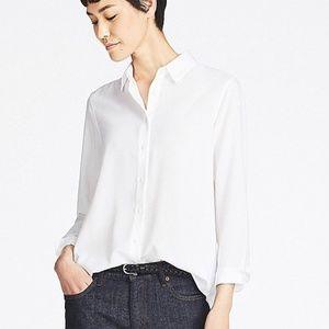 UNIQLO | White Button Down Blouse